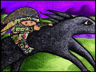 Pixel's Wild Ride Art Print