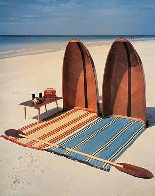 Accessories Photograph - Pixie Collapsible Boat On The Beach by Lois and Joe Steinmetz