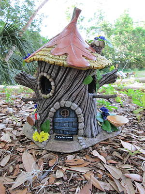 Tinkered Mixed Media - Pixie Country House Bird Feeder by Bird House Hollows