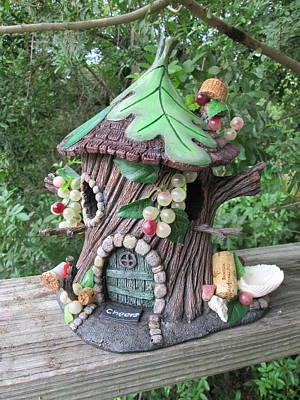 Pixie Napa Valley House Bird Feeder. Original by Jess Fortunato