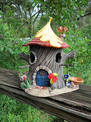 Pixie Santa Fe Bird House Feeder Original by Jess Fortunato
