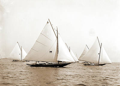 Pixie Drawing - Pixie Sic, Pyxie Yacht, Yachts, Regattas by Litz Collection