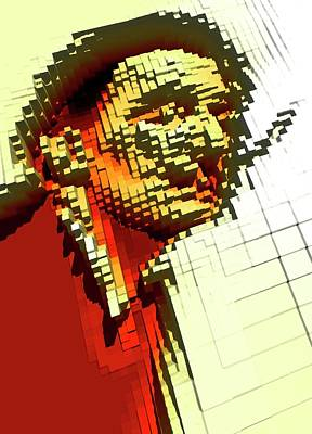 Pixilated Face Art Print by Victor Habbick Visions