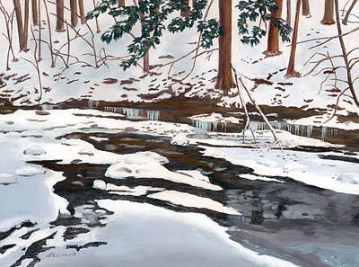 Painting - Pixley In Winter by Lynne Reichhart