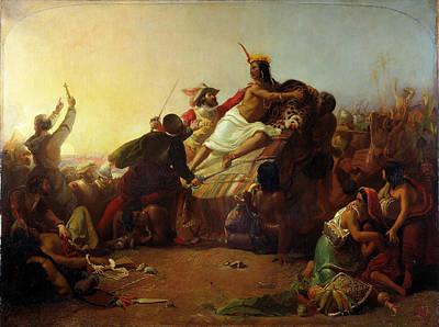 Pizarro Seizing The Inca Of Peru Art Print