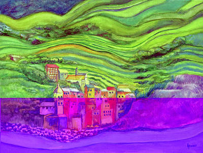 Pizza In Vernazza Art Print