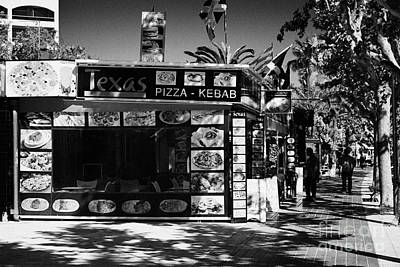 Pizza Kebab Shop In The Spanish Tourist Resort Of Salou Catalonia Spain Art Print by Joe Fox