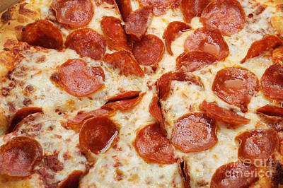 Photograph - Pizza Shoppe Pepperoni Pizza 1 by Andee Design