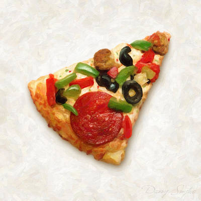 Pizza Slice Art Print