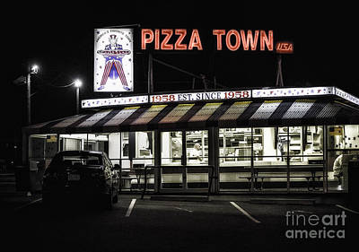 Pizza Town Art Print