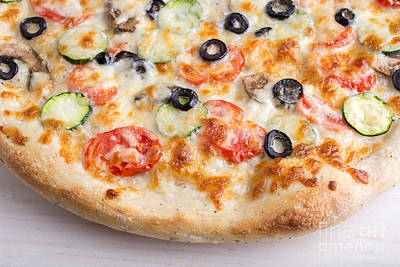 Parlors Photograph - Pizza With Cheese And Vegetables by Edward Fielding