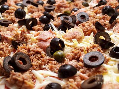 Thomas Kinkade Rights Managed Images - Pizza with Tuna Royalty-Free Image by Sinisa Botas