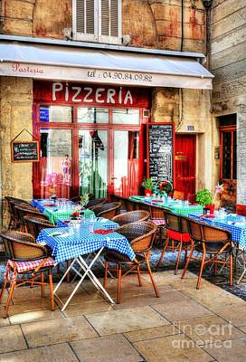 Photograph - Pizzeria In Avignon by Mel Steinhauer