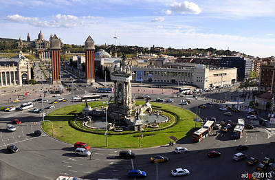 Photograph - Placa De Espanya by Andrew Dinh