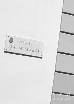 Photograph - Placa De Salvador Dali by Carol Groenen
