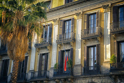 Placa Reial Balconies Art Print by Joan Carroll