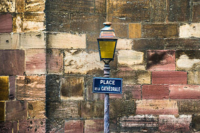 Mauer Photograph - Place De La Cathedrale by Alexander Kunz