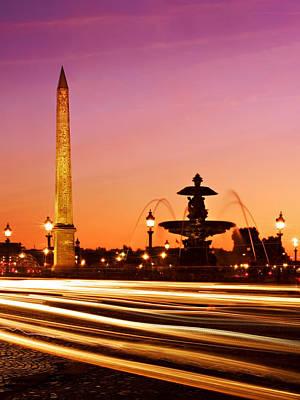 Photograph - Place De La Concorde At Night / Paris by Barry O Carroll