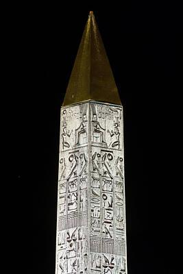 Night Cap Photograph - Place De La Concorde Obelisk by Babak Tafreshi