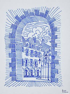 Place Des Vosges, Marais, Paris, France Art Print