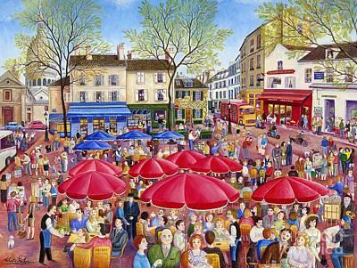 Place Du Tertre Montmartre Art Print by Colette Raker