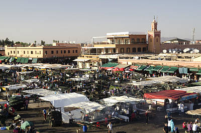 Place Jemaa El Fna Marrakech  Art Print