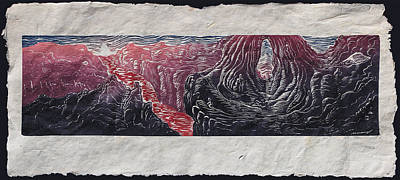 Place Of Emergence Print by Maria Arango Diener