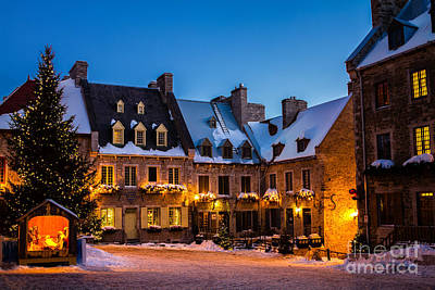 Place Royale Quebec City Canada Art Print by Dawna  Moore Photography