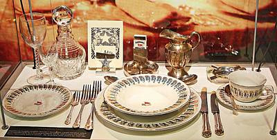 Digital Art - Place Setting Found In The Wreckage Of The Titanic by Carrie OBrien Sibley