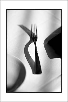 Place Setting Simplicity Art Print by Don Powers