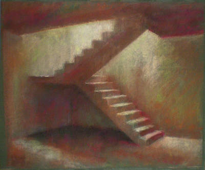 Place With Stairs Art Print by Paez  Antonio