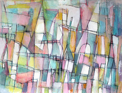 Hari E. Thomas Abstract Painting - Cherished Places And Chapters by Hari Thomas