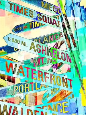 Places In Color Art Print by Cathie Tyler