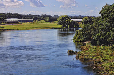 Placid Wide River Art Print by Linda Phelps