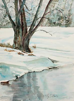 Placid Winter Morning Art Print by Mary Benke