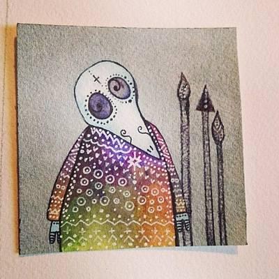 Plague Doctor.  #silver #plaguedoctor Art Print