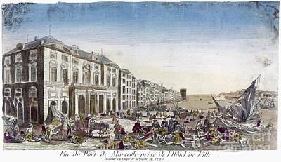 Bubonic Plague Photograph - Plague: Marseilles, 1720 by Granger
