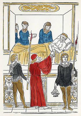 Plague Doctor Photograph - Plague Patient, 1500 by Granger