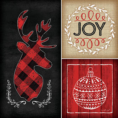 Plaid Painting - Plaid Christmas I by Jennifer Pugh