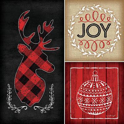 Holiday Painting - Plaid Christmas I by Jennifer Pugh