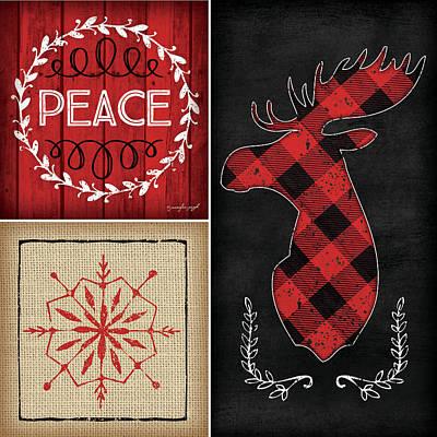 Plaid Painting - Plaid Christmas Iv by Jennifer Pugh