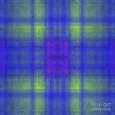 Digital Art - Plaid In Blue 1 Square by Andee Design