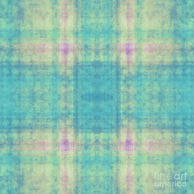 Digital Art - Plaid In Blue 10 Square by Andee Design