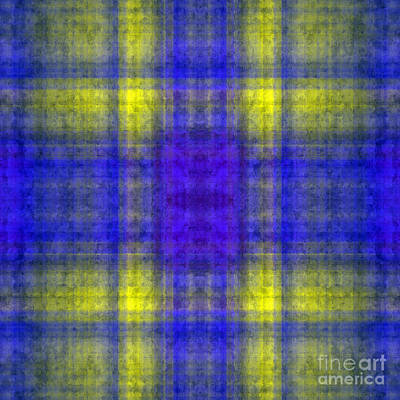 Digital Art - Plaid In Blue 4 Square by Andee Design