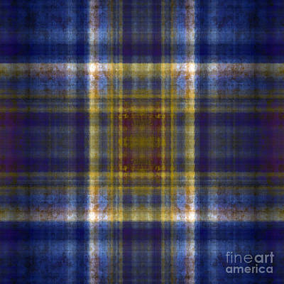 Digital Art - Plaid In Blue 5 Square by Andee Design