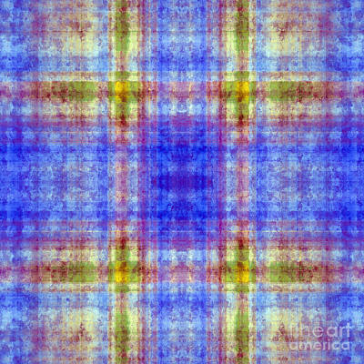 Digital Art - Plaid In Blue 6 Square by Andee Design