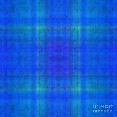 Digital Art - Plaid In Blue 7 Square by Andee Design