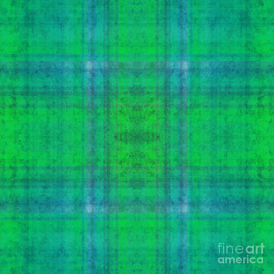 Digital Art - Plaid In Green 2 Square by Andee Design