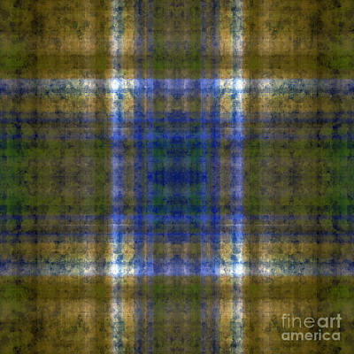 Digital Art - Plaid In Green 4 Square by Andee Design