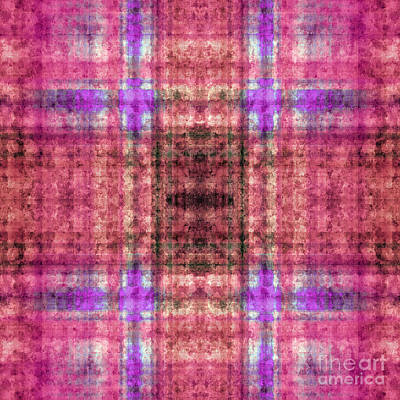 Digital Art - Plaid In Pink 3 Square by Andee Design